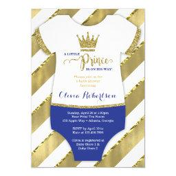 Little Prince  Invite, Faux Glitter