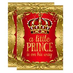 Little Prince on his way  Gold Red