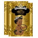 Little Princess Is On Her Way Baby Shower Ethnic Invitation