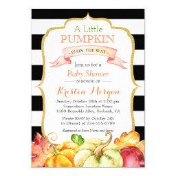 Little Pumpkin Autumn Stylish Fall Baby Shower