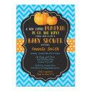 Little Pumpkin Baby Shower  Blue Chevron
