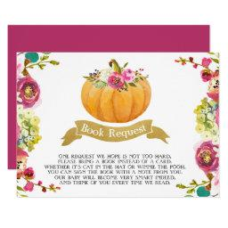 Little Pumpkin Book Request Invitation