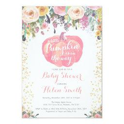 Little Pumpkin Girl Baby Shower Invitation Invitations