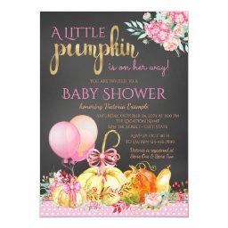 Little Pumpkin Girls Chalkboard Fall Baby Shower