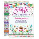 Little Senorita Fiesta Baby Shower Mexican Floral Invitation