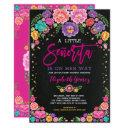 Little Senorita Floral Fiesta Girl Baby Shower Invitation
