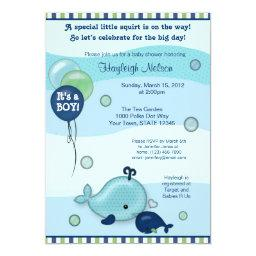 Little Whale Baby and Mommy kiss Baby Shower