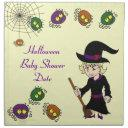 Little Witch And Spider Baby Shower Dinner Napkins