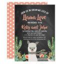 Llama Chalkboard Baby Shower Invitation