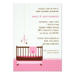 Lullaby Baby Shower Invitation Pink