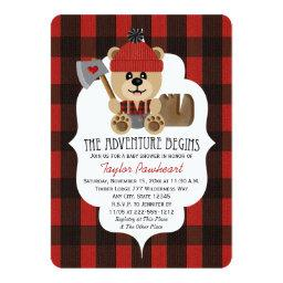 Lumberjack Bear Wilderness Themed Baby Shower