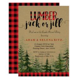 Lumberjack or Jill Gender Reveal Party