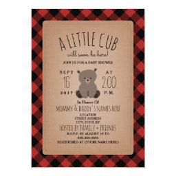 Lumberjack Plaid Bear Cub Baby Shower
