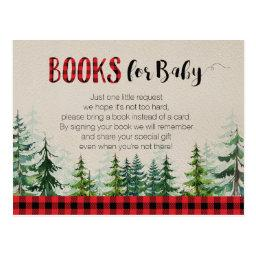 Lumberjack Woodland Forest Books For Baby Postinvitationss