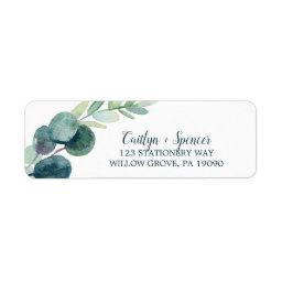 Lush Greenery And Eucalyptus Return Address Label
