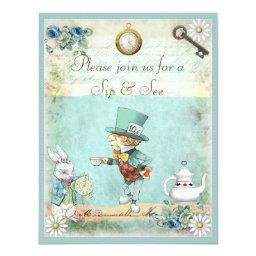 Mad Hatter Sip & See Baby Shower