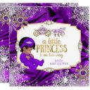 Magical Princess Girl Baby Shower Purple Ethnic Invitation