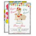 Mama And Baby Llama Fiesta Baby Shower Invitations