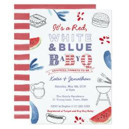 Memorial Day Babyq Coed Baby Shower Invitation