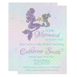 Mermaid Baby Shower  Lavender Gold Teal