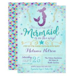 Mermaid Baby Shower Invitations Sprinkle