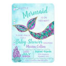 Mermaid Baby Shower Invitation, Under The Sea Invitation