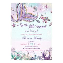 Mermaid Baby Shower Under The Sea Baby Girl Invitation