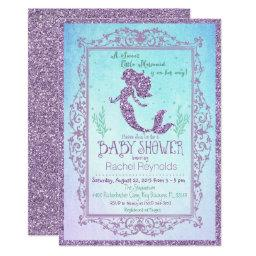Mermaid Under The Sea Baby Shower Invitations