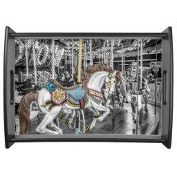 Merry Go Round Carousel Serving Tray