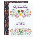 Mexican Fiesta Baby Shower Invitation Folk Art