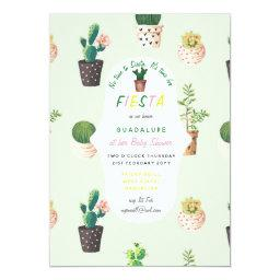 MEXICAN Fiesta BABY SHOWER Invite Cacti Succulents