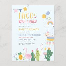 Mexican Fiesta Taco Bout A Baby Couple's Shower Invitation Postinvitations