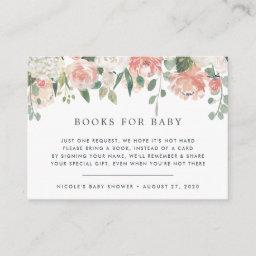 Midsummer Floral Book Request Baby Shower Invitationss