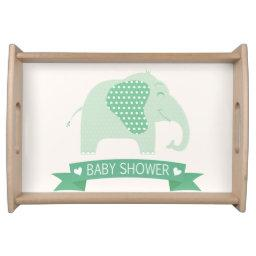 Mint Green Baby Elephant  Serving Tray