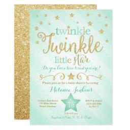 Mint Twinkle Little Star Baby Shower