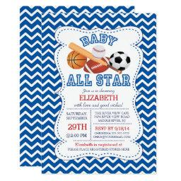 Modern All Star Sports Boys Baby Shower