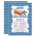 Modern All Star Sports Boys Baby Shower Invitation