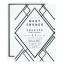 Modern Black White Geometrical Simple Baby Shower