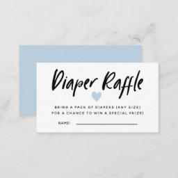 Modern Blue Baby Shower Diaper Raffle Tickets Enclosure Card