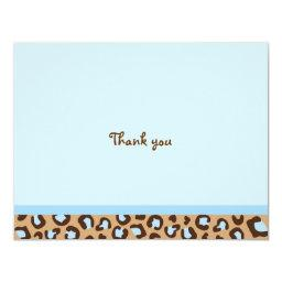 Modern Cheetah Print Thank You Note Invitations