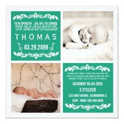 Modern Emerald Baby Sip & See Party Photo