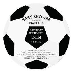 Modern It's A Boy Soccer Baby Shower