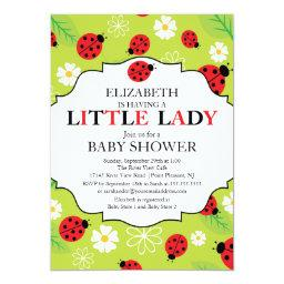 Modern Little Lady Red Ladybug Baby Shower
