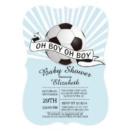 Modern Oh Boy Soccer Boys Baby Shower