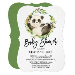 Modern Panda Bear Baby Shower Invitation