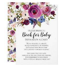 Modern Plum Floral  Book for Baby