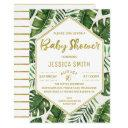 Modern Tropical Foliage Baby Shower