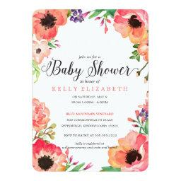 MODERN WATERCOLOR FLORAL baby shower