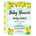 Modern Watercolor Lemon Tree Baby Shower Invitation