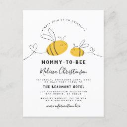 Mommy To Bee Baby Shower Invitation Postinvitations